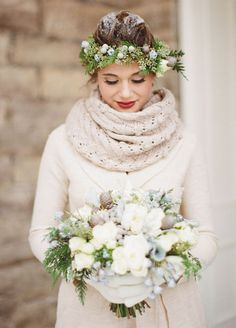 The details make all the difference and your wedding day look is no exception! From cozy knits to faux fur capes, cold-weather accessories are the perfect compliment to your white wedding dress.