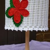 FLOWER crocheted lampshade - via @Craftsy