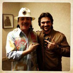 Juanes y Carlos Santana
