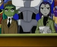 "Beast Boy and Raven from ""Teen Titans"""
