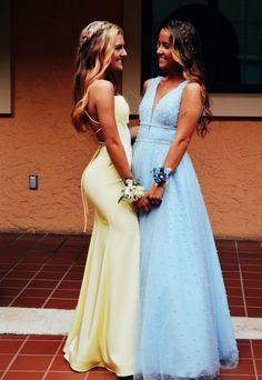 Cute A Line V Neck Blue Beading Long Prom Dresses, Fashion Quinceanera Dresses Pretty Prom Dresses, A Line Prom Dresses, Grad Dresses, Ball Dresses, Homecoming Dresses, Beautiful Dresses, Elegant Dresses, Sexy Dresses, Mermaid Style Prom Dresses