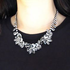 Crystal flower Necklace from Picsity.com