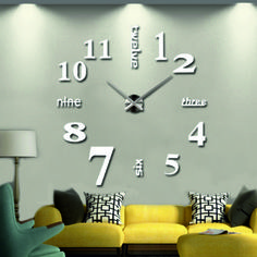 Nástenné hodiny na stenu, Wall clock, Zagar, Spiegel, Hodiny samolepky na zeď a stenu