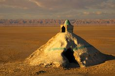Mausoleum made entirely from salt at Chott el Jerid, south of Tozeur