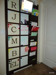 incredible organizer - magnetic, dry erase boards, and boxes - way cool!