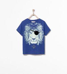 EYE PATCH LION PRINT T-SHIRT from Zara