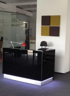 Linea reception desk in Lithuania.
