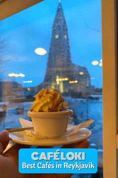 If you're looking for a great cup of coffee or dessert when in Reykjavik, Iceland, don't miss out on Café Loki, a local favorite! #cafeloki #espressolove #yummy