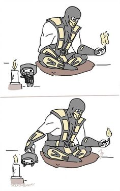 nope by zetsumeininja on DeviantArt Mortal Kombat Comics, Mortal Kombat Memes, Mortal Kombat Art, Cartoon As Anime, Anime Art, Moto Combat, Scorpion Mortal Kombat, Arte Peculiar, Comics Story