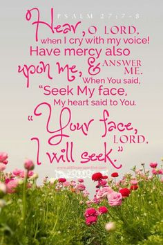 Lord, your face I will seek.