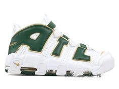 save off 2ec9a 38fba Officiel Nike Air More Uptempo Atlanta AJ3139-100 Chaussure De Basketball Pas  Cher Homme Vert
