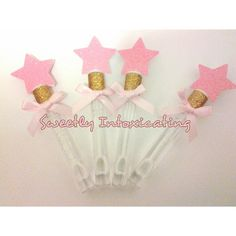 12 Twinkle Little Star pink & gold bubble by SweetlyIntoxicating