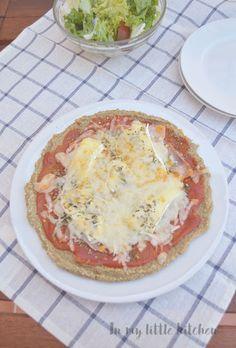 Pizza con base de quinoa Quinoa pizza crust