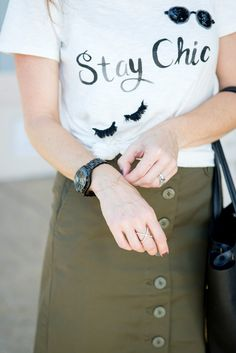 Stay Chic tee // the