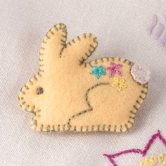 Here's a delightful felt rabbit brooch for your lapel or bag. Lovingly designed and made by me, from softest wool-blend felt and pretty coloured embroidery threads. A little silver brooch pin on the back means you can take your Bunny wherever you go, . Conkers, Felt Brooch, Free Uk, Embroidery Thread, Felt Crafts, Wool Blend, Bunny, October, Amp