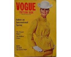 Vintage Vogue International Pattern Book Magazine Spring February March 1967 (U. Make Your Own Jewelry, Pattern Books, Pattern Making, Vintage Patterns, Printing On Fabric, Im Not Perfect, Vintage Outfits, Vogue, February