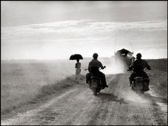"""Robert Capa, Indochina, 1954.I """"Indochina, Capa jumps Jeep, two feet creep up the road To photo, to record meat lumps and war They advance as does his chance, very yellow white flash A violent wrench grips mass, rips light, tears limbs like rags"""" Alt J- Taro"""