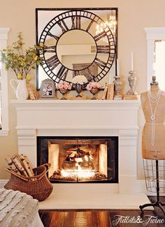 Fire place mantle decor