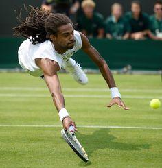 Wimbledon 2013 - Il tedesco Dustin Brown contro l'australiano Lleyton Hewitt, 26 giugno 2013.