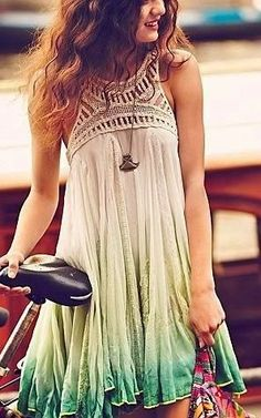Boho Adorable mini colorful dress! Love all the color and style!