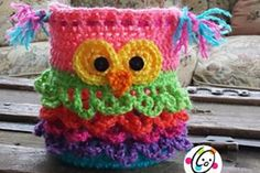Bon Bon the Owl Crochet Container FREE Pattern