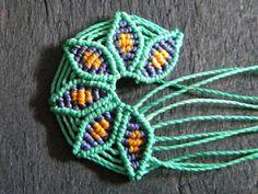 Free pattern: Macrame Flower. Great way to practice micro-macrame.                                                                                                                                                                                 More