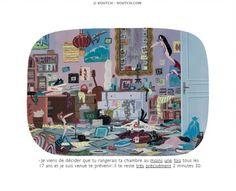 """""""Range ta chambre !"""" - sur le sujet """"Faire le ménage"""", ce questionnaire peut être utilisé en complément du cours http://cahierfle.wordpress.com/2009/11/19/les-taches-menageres/"""