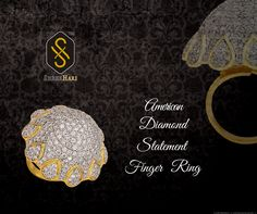 The glitter of the vibrant ‪#‎American‬ Diamonds and the radiance of the gold polish effuse an enchanting charm to ShreeHari's ‪#‎ADRing‬ collection! Click here https://www.shreehari.co/ad-cz/engagement-ring.html to browse through our exquisite product range! ‪#‎ShreeHari‬