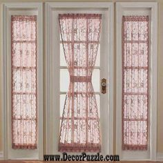 french door curtains and blinds, french style curtains for door The best designs of French country curtains for french doors and blinds, how to choose the best design of French curtains for living room hall, bedroom, kitchen French Door Curtain Panels, Curtain For Door Window, Window Curtains, Ikea Curtains, Nursery Curtains, Outdoor Curtains, Hanging Curtains, Bathroom Curtains, Kitchen Curtains