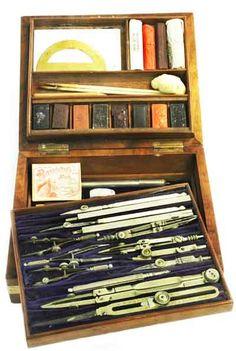 antique  draughtsman set