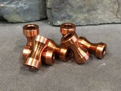 The Timekeeper Copper EDC Bead / Every Day Carry / Paracord Bead  / CNC / Metal…