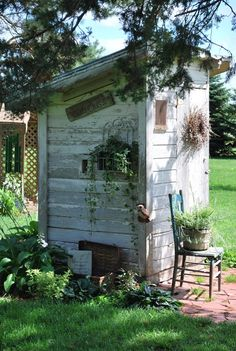 I really need to decorate the outhouse this summer.