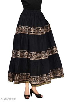 Checkout this latest Skirts Product Name: *Fancy Cotton Long Skirt* Sizes:  34, 36, 38, 40, 42, 44, Free Size Easy Returns Available In Case Of Any Issue   Catalog Rating: ★4 (419)  Catalog Name: Ladies Fancy Cotton Printed Long Skirts Vol 3 CatalogID_131103 C74-SC1013 Code: 654-1071353-7611