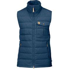 Fjallraven Men's Ovik Lite Vest - Blue - Size XL (225 CAD) ❤ liked on Polyvore featuring men's fashion, men's clothing, men's outerwear, men's vests, blue, mens vest, mens zipper vest, mens zip vest, mens blue vest and mens vest outerwear