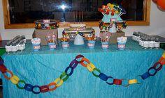 Rainbow birthday party... lik ethe chain