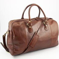 Luxus Reisetasche Weekender braun Leder Made in Italy von www.styleup.eu