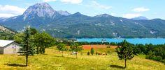lac de serre-poncon Camping, Bungalows, Mountains, Nature, Travel, Alps, Campsite, Viajes, Traveling