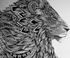 Bildergebnis für lion tattoo mandala