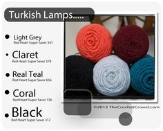 Red Heart Super Saver Color Mix: Turkish Lamps