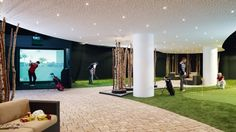 Indoorgolf im Winter - das ist im Interalpen-Hotel Tyrol bei Seefeld möglich