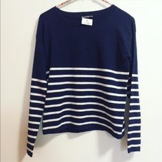 Image result for blue and white striped sweater h and m