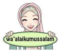 Buat chat kamu lebih asyik dengan Hijab Gaul Mlm dev :D Cute Bunny Cartoon, Cute Cartoon Pictures, Cute Love Cartoons, Girl Cartoon, Muslim Greeting, Hijab Drawing, Love Cartoon Couple, Islamic Posters, Islamic Cartoon