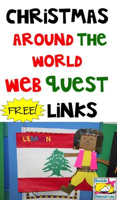 You will find a web quest for Christmas Around the World.  All of the links are there to conduct a successful research on 30 different countries!  Find location, holiday traditions, flags, clothing and much more!
