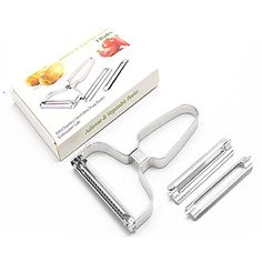 Stainless Steel 3 Blades Julienne Fruit Vegetable Peeler *** Want to know more, click on the image-affiliate link.