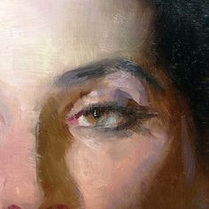 """Jeremy Lipking: """"Eye detail. Always keep the edges in the eyes soft. Original is about 3/4 life size"""""""