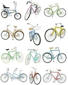 12 Bicycle Drawings Limited Edition Archival by ChristineBerrie, $32.00
