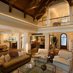 Vaulted Wood Ceiling With Crown Molding Design Ideas, Pictures, Remodel, and Decor - page 5