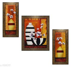 Checkout this latest Paintings Product Name: *Colorfull Wall Painting (Set Of 3)* Pack: Pack of 3 Country of Origin: India Easy Returns Available In Case Of Any Issue   Catalog Rating: ★4 (197)  Catalog Name: Spiritual Colorfull Wall Paintings Combo Vol 2 CatalogID_202309 C127-SC1611 Code: 872-1556177-645