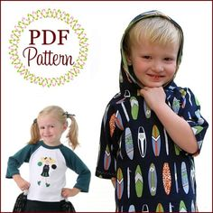 All-the-Rage Raglans, Boutique Pattern PDF E-Book, by the Scientific Seamstress. $9.95, via Etsy.  6m-10-12yrs