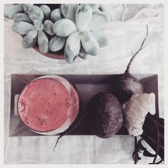 Morning booster! Ginger & beet root..